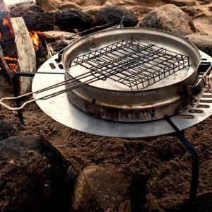 Roue de secours pour monture Braai / barbecue