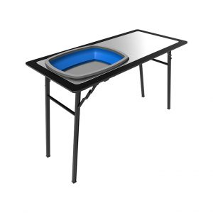 Table rabattable à hayon