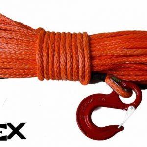 KIT DE CORDE DE TREUIL SYNTHETIQUE 28M 10mm (rupture 9100 kgs)