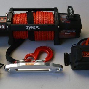 TREUIL TYREX BLACK SERIE 13000LB/5890 KG 12V CORDE SYNTHETIQUE