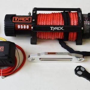 TREUIL TYREX BLACK SERIE 9500LB/4300KG CORDE SYNTHETIQUE