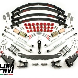 Kit de rehausse de suspension HM4X4 FULL TRIAL +11cm Shackle Reverse Suzuki Samurai et Sj